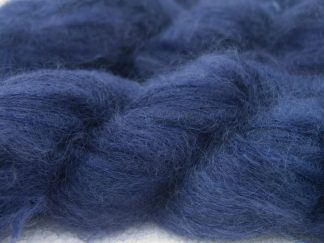 Smoky violet-purple kidsilk laceweight yarn. Hand-dyed by Triskelion Yarn