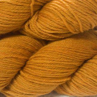 Orange superwash British Bluefaced Leicester sportweight yarn. hand-dyed by Triskelion Yarn