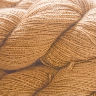 Light Brown Baby Alpaca Silk & Cashmere 4-ply yarn. Hand-dyed by Triskelion Yarn.