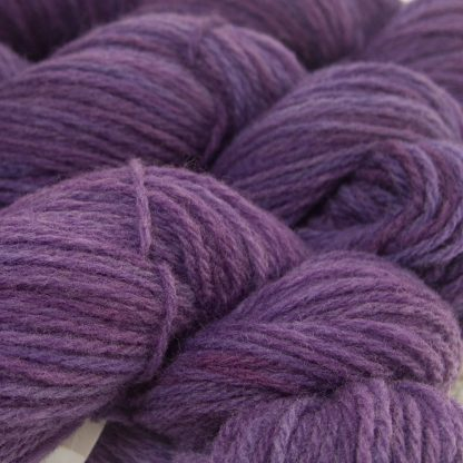 Violet purple Lleyn worsted yarn hand-dyed by Triskelion Yarn