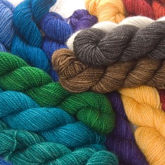 Superwash Bluefaced Leicester (BFL) 4-ply/fingering/sock yarn mini skein. Hand-dyed by Triskelion Yarn