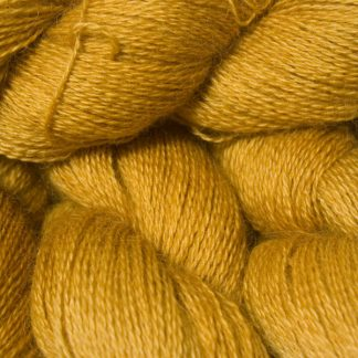 Warm yellow hand-dyed Wensleydale DK/ Double Knit yarn. Hand-dyed by Triskelion Yarn