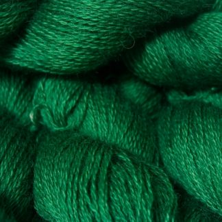 Mid-toned green hand-dyed Wensleydale DK/ Double Knit yarn. Hand-dyed by Triskelion Yarn