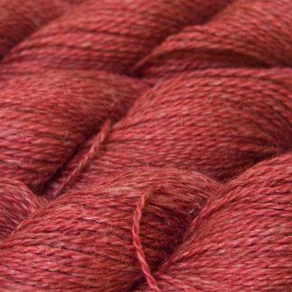 Rose Baby Alpaca, silk and linen sport weight yarn. Hand-dyed by Triskelion Yarn.