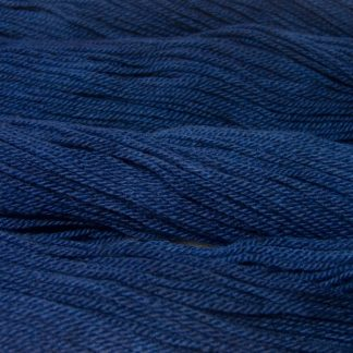 Semi-solid midnight blue, with violet and cobalt tones Bluefaced Leicester (BFL) / Masham aran yarn. Hand-dyed by Triskelion Yarn