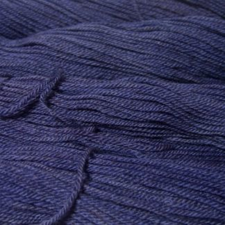 Semi-solid mid to light blue-violet, with tones of lavender and light cobalt Bluefaced Leicester (BFL) / Masham aran yarn. Hand-dyed by Triskelion Yarn