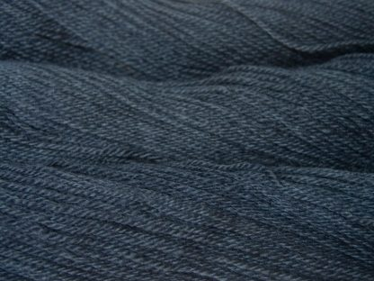 Thunor's Brow - Semi-solid mid- to dark grey, with tones of stormy blue and violet Bluefaced Leicester (BFL) / Gotland dlouble knit (DK) yarn. Hand-dyed by Triskelion Yarn