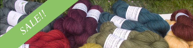 Alpacas of Wales Suri & Baby Alpaca sport weight yarn. hand dyed by Triskelion Yarn