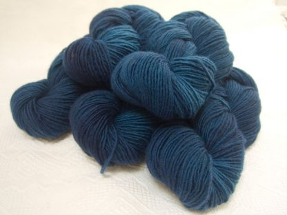 Barinthus - Mid to dark air force blue Bluefaced Leicester (BFL) / Masham worsted yarn. Hand-dyed by Triskelion Yarn