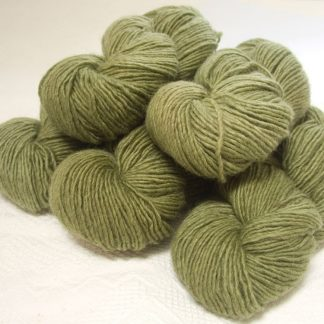 Fen - Light greyish green Bluefaced Leicester (BFL) / Masham worsted yarn. Hand-dyed by Triskelion Yarn