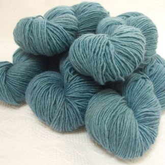 Horizon - Light sky blue Bluefaced Leicester (BFL) / Masham worsted yarn. Hand-dyed by Triskelion Yarn