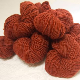 My Foxy Darling - Semi-solid dark orange, with tones of copper, vermillion and russet Bluefaced Leicester (BFL) / Masham worsted yarn. Hand-dyed by Triskelion Yarn