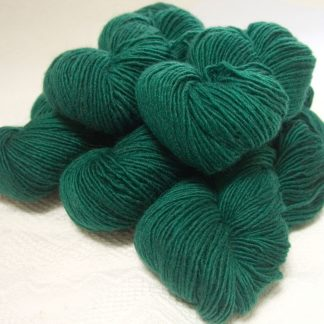Nicor - Semi-solid mid-tone blue-green Bluefaced Leicester (BFL) / Masham worsted yarn. Hand-dyed by Triskelion Yarn