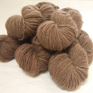 Rabbit - Light to mid-tone fawn Bluefaced Leicester (BFL) / Masham worsted yarn. Hand-dyed by Triskelion Yarn