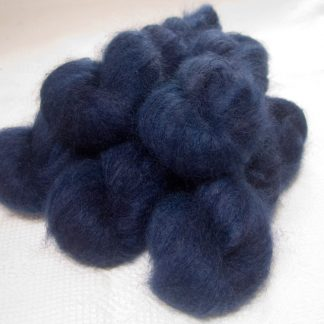 Navigator - Semi-solid deep blue kidsilk laceweight yarn. Hand-dyed by Triskelion Yarn