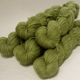 Fen - Light greyish green Baby Alpaca Silk & Cashmere double-knit yarn. Hand-dyed by Triskelion Yarn.
