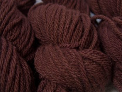 Fallow - dark reddish brown Manx Loaghtan chunky yarn hand-dyed by Triskelion Yarn