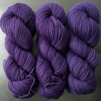 Peace Weaver - Semi-solid mid to light blue-violet, with tones of lavender and light cobalt Bluefaced Leicester (BFL) / Gotland 4-ply (fingering) yarn. Hand-dyed by Triskelion Yarn