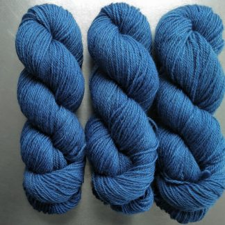 Gloaming - Semi-solid dark blue, with cobalt, sea blue and dark grey tones Bluefaced Leicester (BFL) / Gotland dlouble knit (DK) yarn. Hand-dyed by Triskelion Yarn