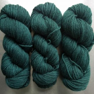 Grendel - Mid to dark bluish-green Bluefaced Leicester (BFL) / Gotland dlouble knit (DK) yarn. Hand-dyed by Triskelion Yarn