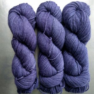 Peace Weaver - Semi-solid mid- to light blue-violet, with tones of lavender and light cobalt Bluefaced Leicester (BFL) / Gotland dlouble knit (DK) yarn. Hand-dyed by Triskelion Yarn
