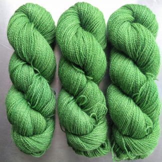Afallon - Apple green Falklands Corriedale and British Mohair 4-ply/fingering/sock yarn. Hand-dyed by Triskelion Yarn