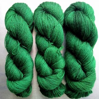 Dinas Emrys - Mid to dark emerald Falklands Corriedale and British Mohair 4-ply/fingering/sock yarn. Hand-dyed by Triskelion Yarn