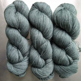 Endless Forms - Green sea grey Falklands Corriedale and British Mohair 4-ply/fingering/sock yarn. Hand-dyed by Triskelion Yarn