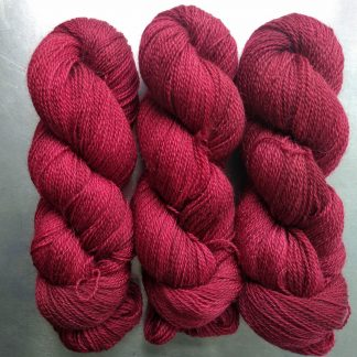 Tynged - Dark crimson Falklands Corriedale and British Mohair 4-ply/fingering/sock yarn. Hand-dyed by Triskelion Yarn