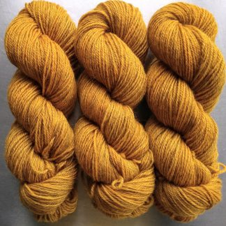 Crocus golden orange hand-dyed by Triskelion Yarn