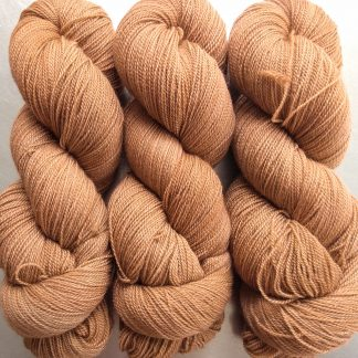 Marten - Rich russet brown extra fine Falklands Merino 2-ply laceweight yarn hand-dyed by Triskelion Yarns