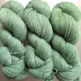 Ran's Net - Pale surf green Bluefaced Leicester (BFL) / Gotland 4-ply (fingering) yarn. Hand-dyed by Triskelion Yarn