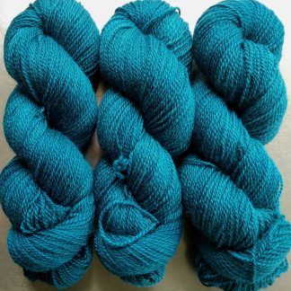 Menawethan - dark teal Bluefaced Leicester / silk 4-ply yarn. Hand-dyed by Triskelion Yarn.