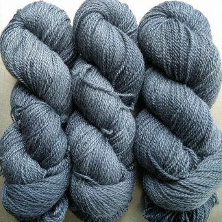 Storm - dark violet blue-grey Bluefaced Leicester / silk 4-ply yarn. Hand-dyed by Triskelion Yarn.