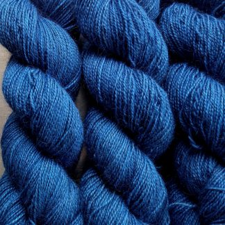 Gloaming - Sapphire blue Bluefaced Leicester (BFL) / Gotland / Wensleydale 4-ply (fingering) weight high-twist sock yarn. Hand-dyed by Triskelion Yarn