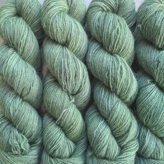 Ran's Net - Pale surf green Bluefaced Leicester (BFL) / Gotland / Wensleydale 4-ply (fingering) weight high-twist sock yarn. Hand-dyed by Triskelion Yarn