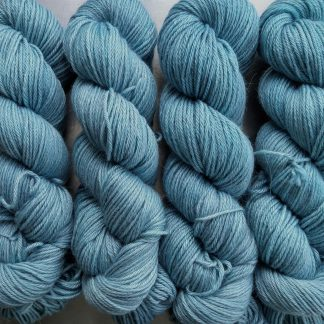 Horizon - Light sky blue Baby Alpaca Silk & Cashmere double-knit yarn. Hand-dyed by Triskelion Yarn.