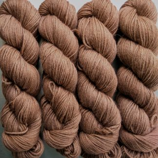 Marten - Rich russet brown Baby Alpaca Silk & Cashmere double-knit yarn. Hand-dyed by Triskelion Yarn.