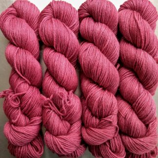 Yves Rose - Intense mid to dark rose Baby Alpaca Silk & Cashmere double-knit yarn. Hand-dyed by Triskelion Yarn.