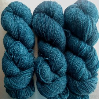 Aegir's Cauldron - Dark petrol blue Bluefaced Leicester (BFL) / Gotland 4-ply (fingering) yarn. Hand-dyed by Triskelion Yarn