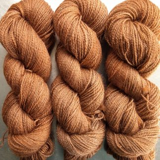 Marten - Rich russet brown Falklands Corriedale and British Mohair 4-ply/fingering/sock yarn. Hand-dyed by Triskelion Yarn