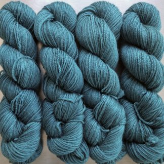 Harbour - Mid turquoise Baby Alpaca Silk & Cashmere double-knit yarn. Hand-dyed by Triskelion Yarn.