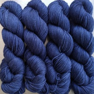 Navigator - Dark ultramarine Baby Alpaca Silk & Cashmere double-knit yarn. Hand-dyed by Triskelion Yarn.