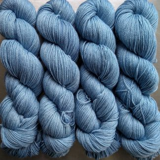 Horizon - Light sky blue Baby Alpaca Silk & Cashmere 4-ply yarn. Hand-dyed by Triskelion Yarn.