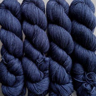 Penumbral - Dark navy Baby Alpaca Silk & Cashmere 4-ply yarn. Hand-dyed by Triskelion Yarn.