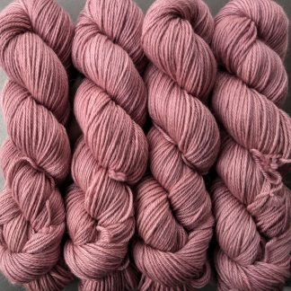 Ash Rose - Pale greyish pink Baby Alpaca Silk & Cashmere double-knit yarn. Hand-dyed by Triskelion Yarn.