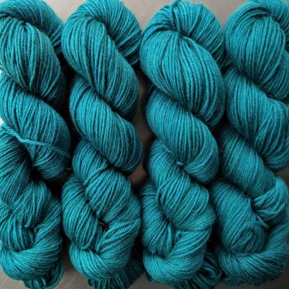 Estuary - Rich greens and blues Baby Alpaca Silk & Cashmere double-knit yarn. Hand-dyed by Triskelion Yarn.