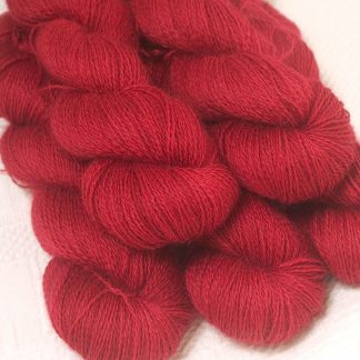 hand-dyed Wensleydale DK/ Double Knit yarn. Hand-dyed by Triskelion Yarn