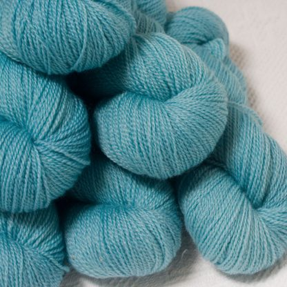 Horizon - Light sky blue Bluefaced Leicester 4-ply / fingering weight yarn hand-dyed by Triskelion Yarns