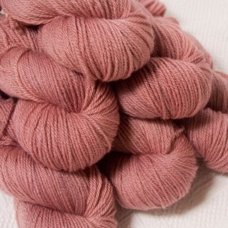 Ash Rose - Light greyish pink Bluefaced Leicester DK (double knit) yarn hand-dyed by Triskelion Yarns